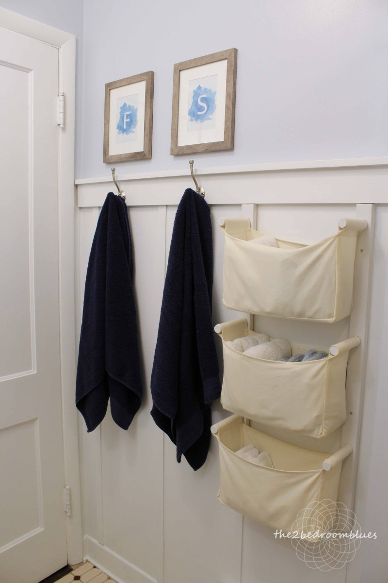 Easy DIY bathroom board and batten